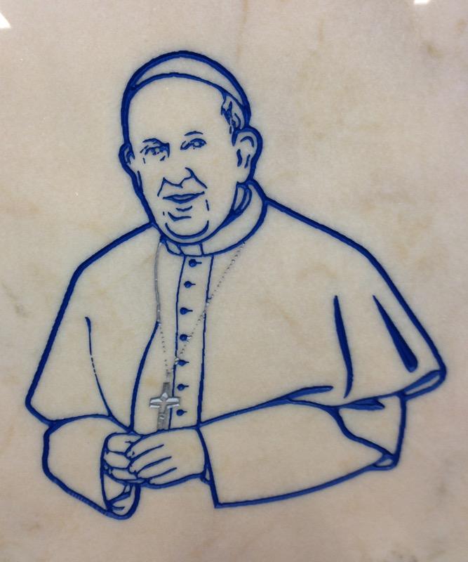 Papa Bergoglio INCISIONI E BASSORILIEVO