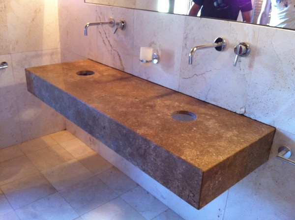 Top bagno travertino TOP CUCINE E BAGNI