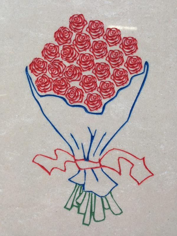 mazzo rose inciso INCISIONI E BASSORILIEVO