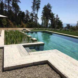 Bio-piscina in Travertino Silver2