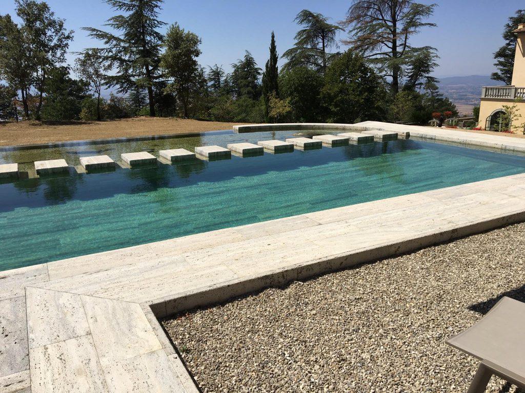 bio piscina in travertino silver giulio cesare marmi On bio piscina