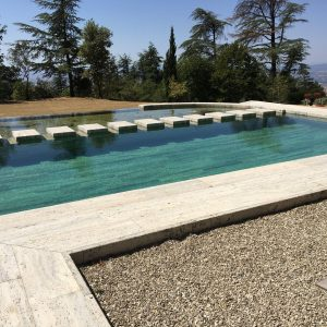 Bio-piscina in Travertino Silver4