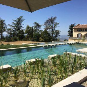 Bio-piscina in Travertino Silver5