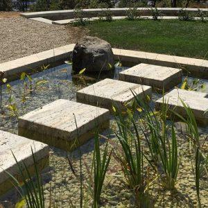 Bio-piscina in Travertino Silver6