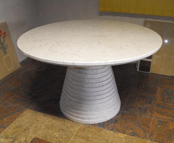 tavolo assemblato in marmo bianco carrara VARIE