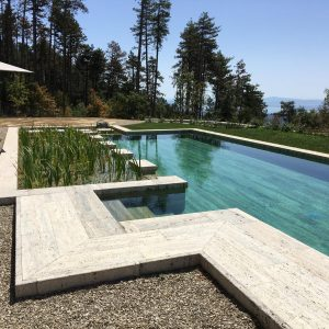 Bio-piscina in Travertino Silver2